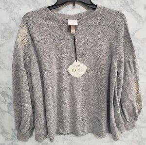 Knox Rose embroidered sweater